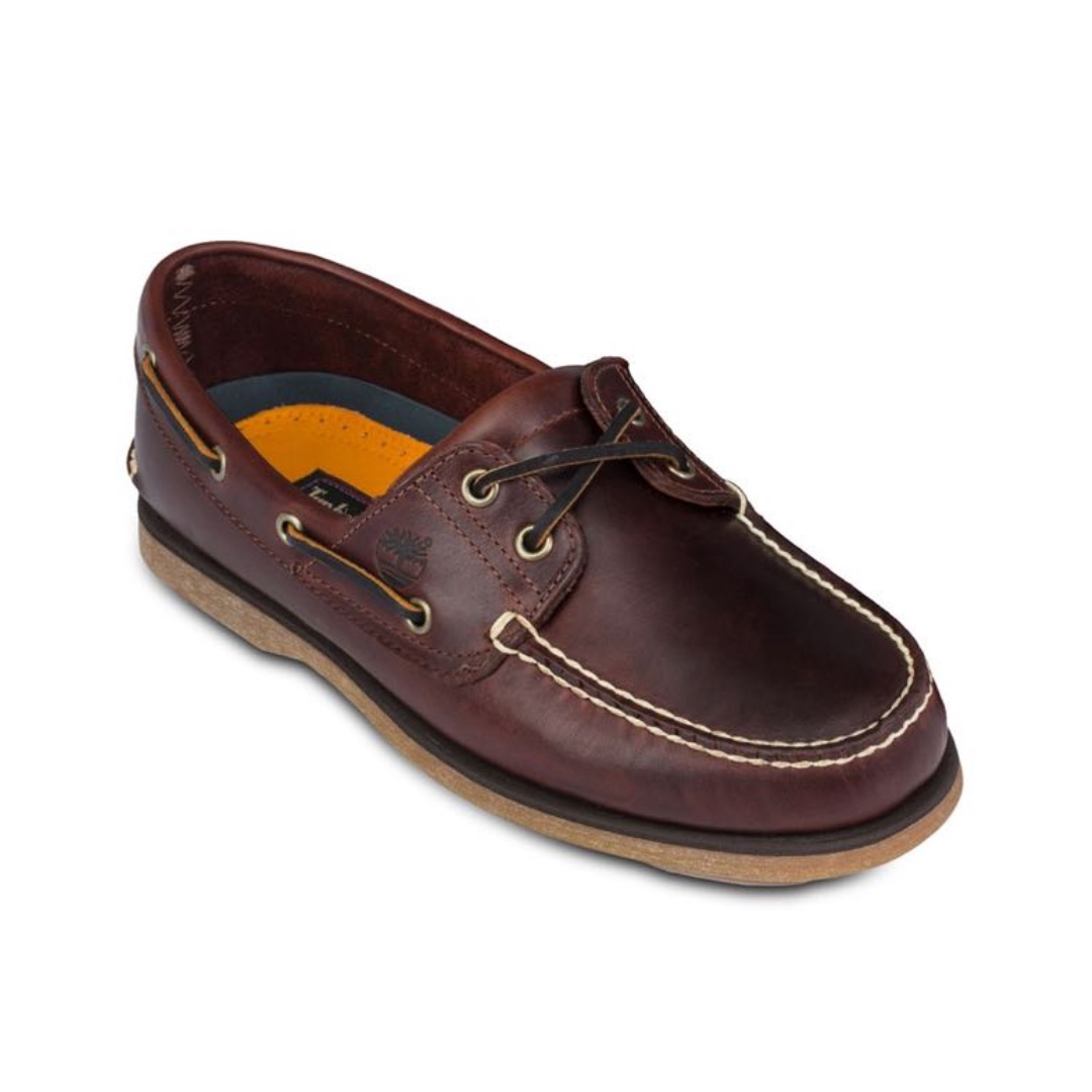regalo Cambio Perjudicial  AUTHENTIC TIMBERLAND Root Beer Smooth Men's Classic 2-Eye Boat Shoes, Men's  Fashion, Footwear, Others on Carousell