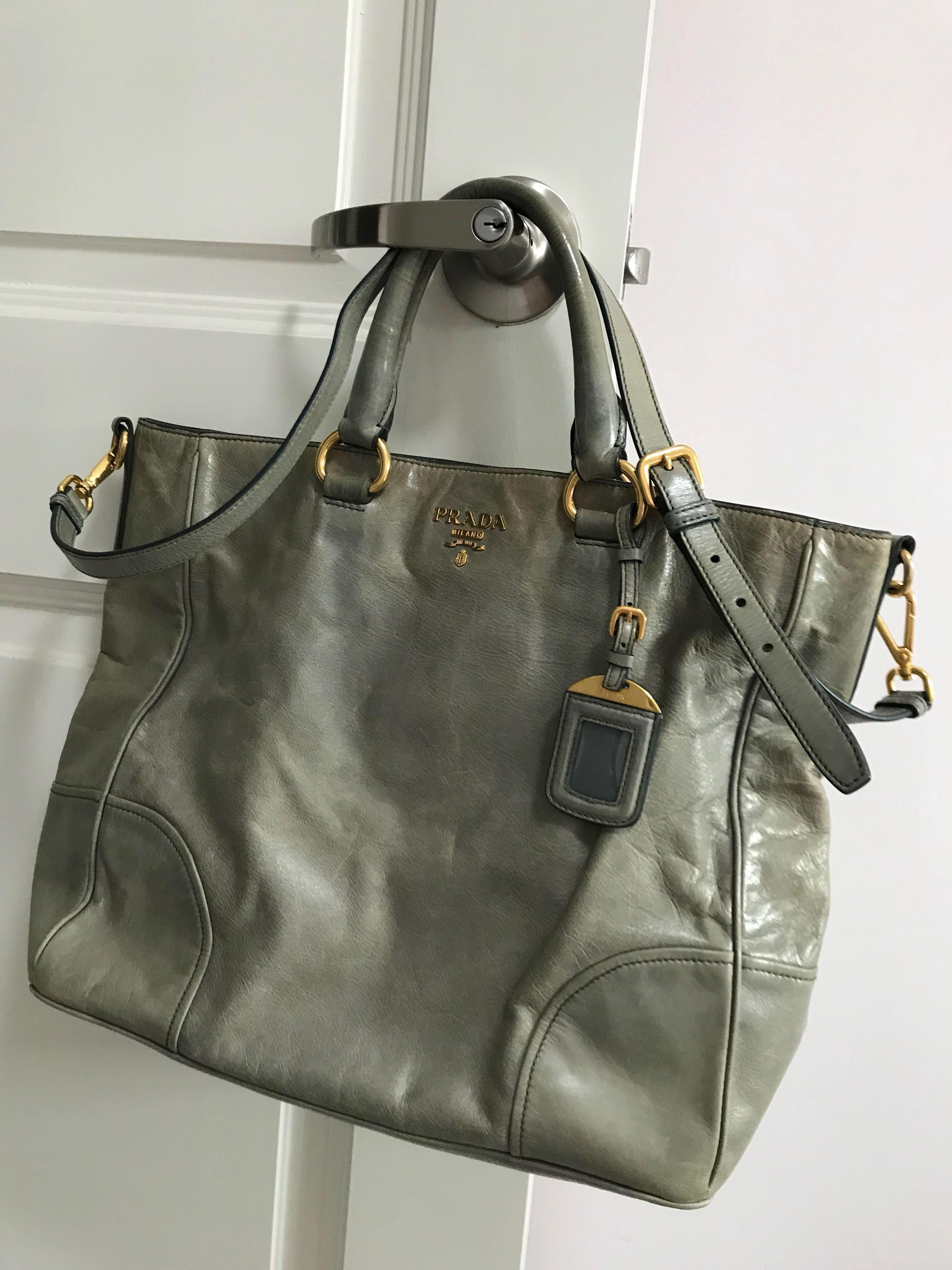 5f4079c2b7da Authentic Vintage Prada Bag - Used, Women's Fashion, Bags & Wallets ...