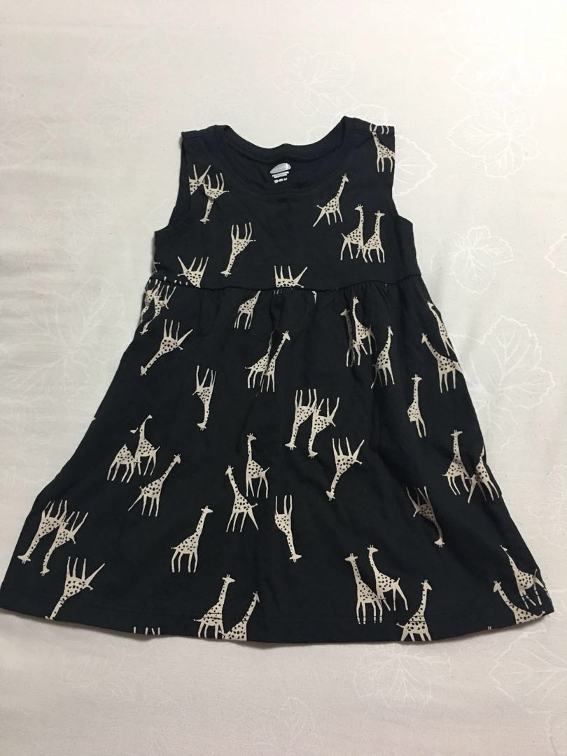 c0a728578f8d Baby girl old navy sleeveless dress - Giraffe print