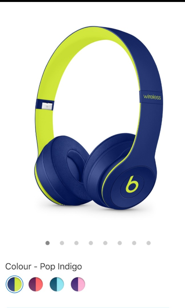 bff26deae39 Beats Solo3 Wireless On-Ear Headphones – Beats Pop Collection – Pop Indigo,  Electronics, Audio on Carousell