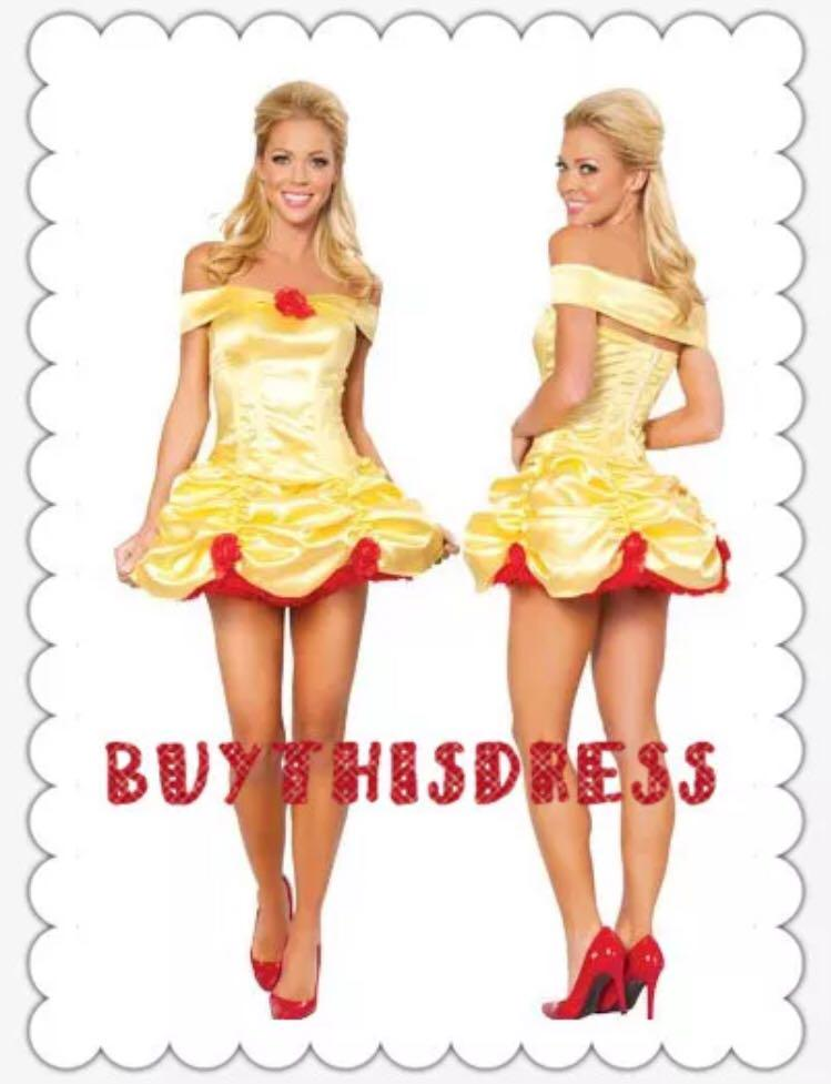 Beauty and Beast Princess Yellow Party Dress
