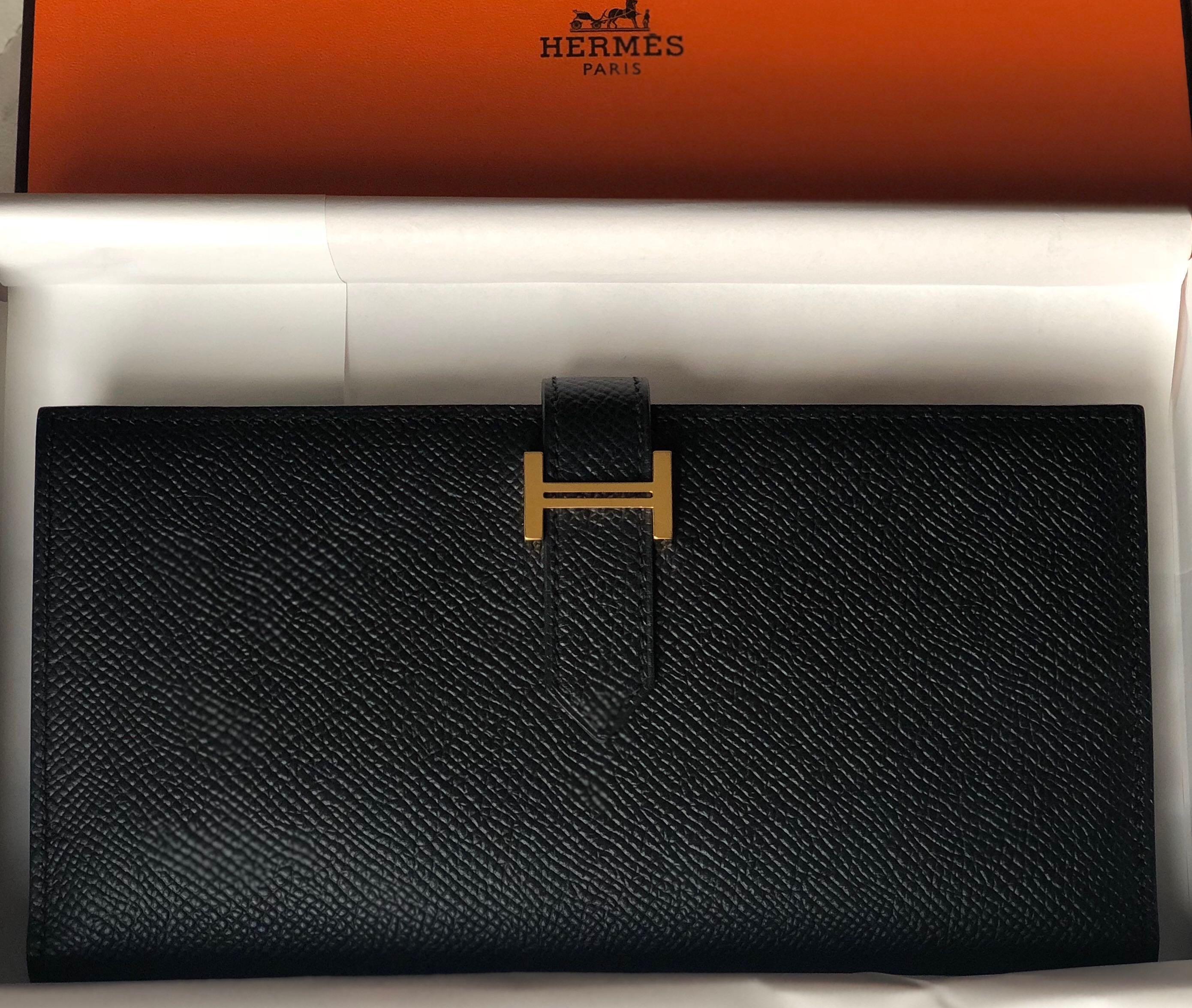 9a4eaa6b7e03 Best Deal! Hermes Bearn Wallet Epsom GHW!