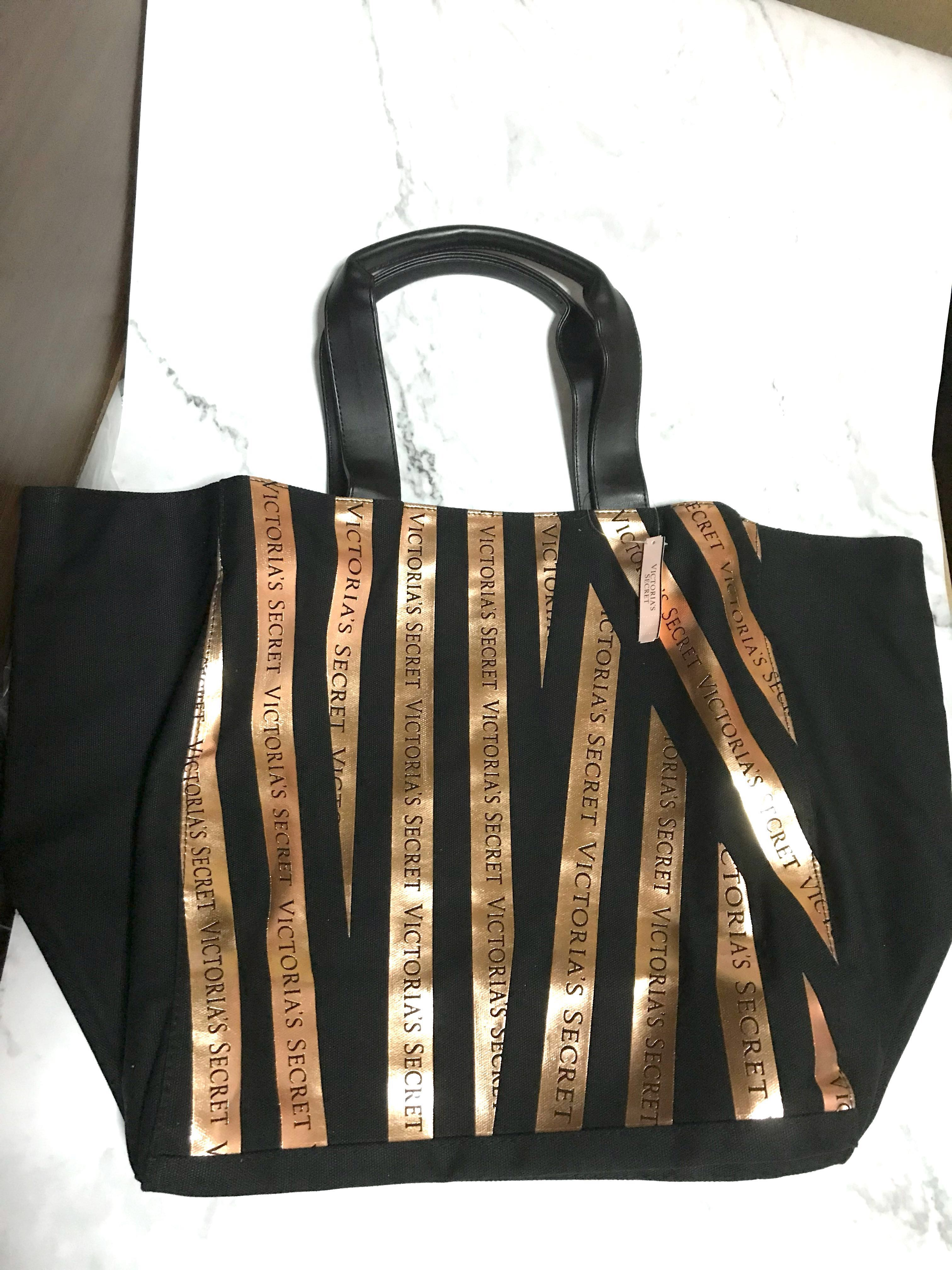 a4e8f8a6f126b7 Bombshell Seduction Rosegold & Black Stripe Tote, Women's Fashion, Bags &  Wallets, Handbags on Carousell