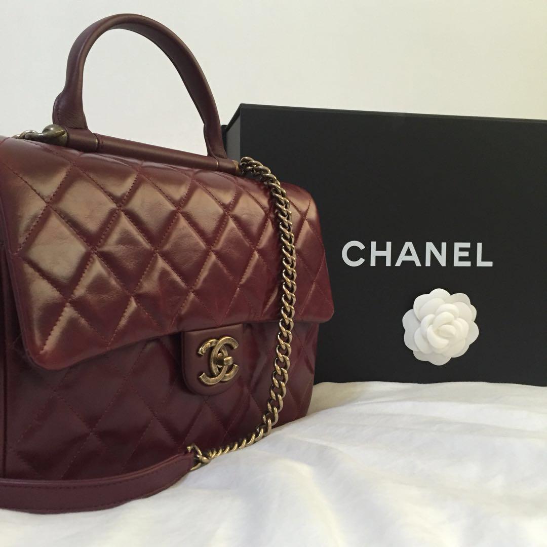 b92c56ab9213 Chanel Castle Rock Bag in Burgundy (Chanel Flap), Luxury, Bags ...