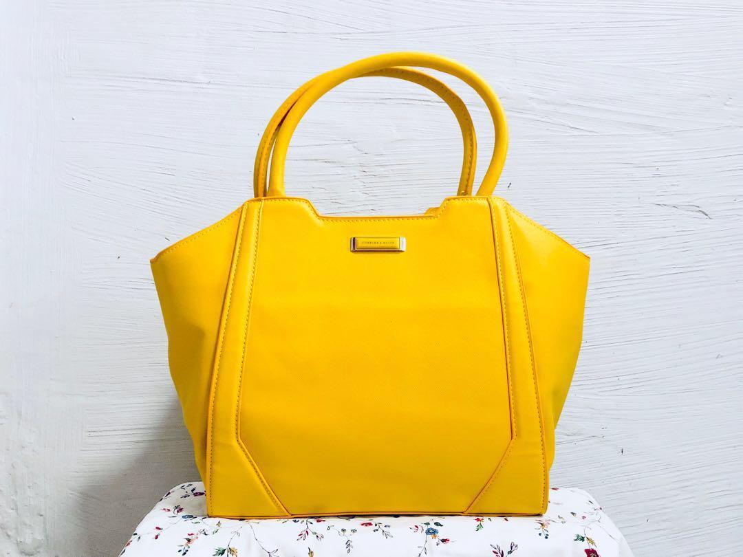 41868c1c28e1d Charles   Keith Yellow Sling Bag