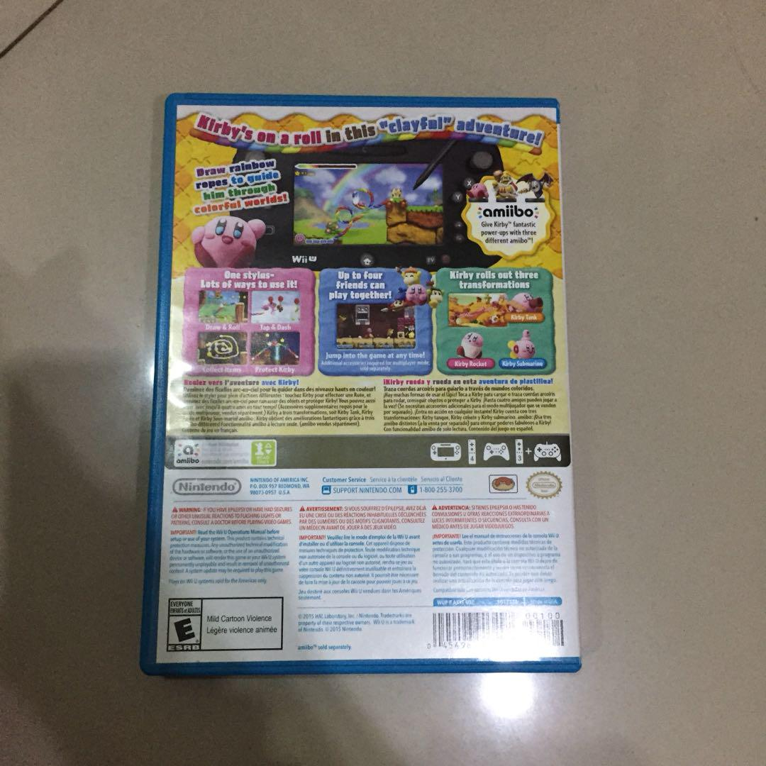 drawing games for wii u Game Wii U Kirby Video Gaming Video Games On Carousell
