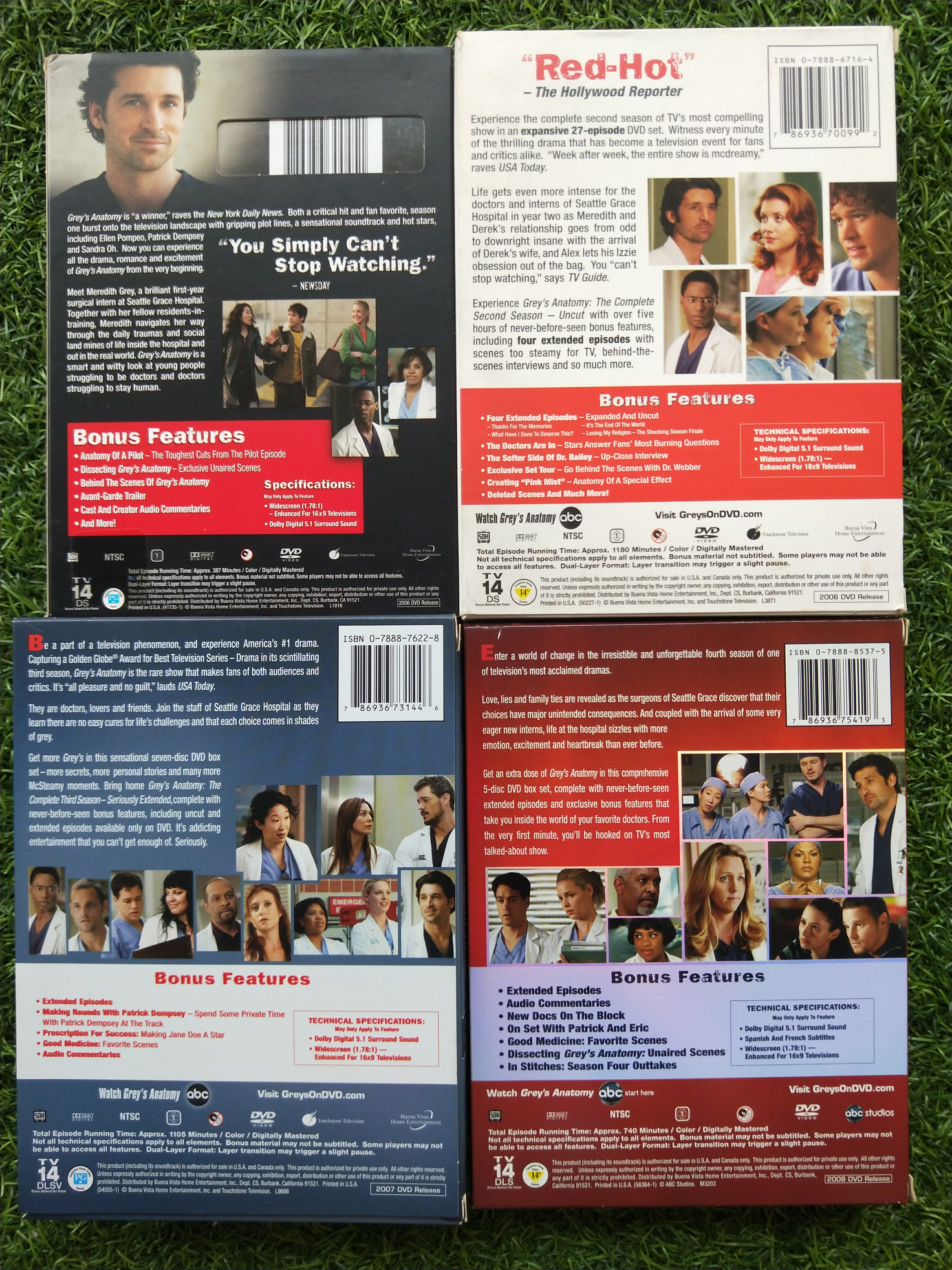 Grey\'s Anatomy DVD Seasons 1-4 Boxsets, Music & Media, CDs, DVDs ...