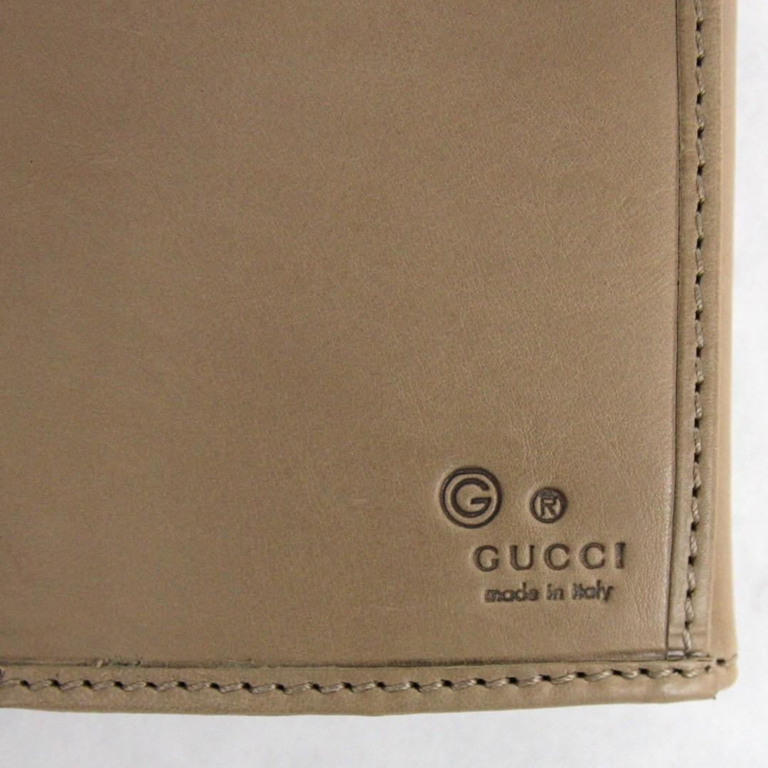Gucci Beige Leather Clutch Continental Wallet
