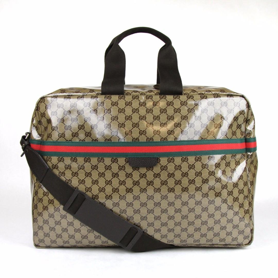 Gucci Crystal GG Canvas Duffle Travel Bag