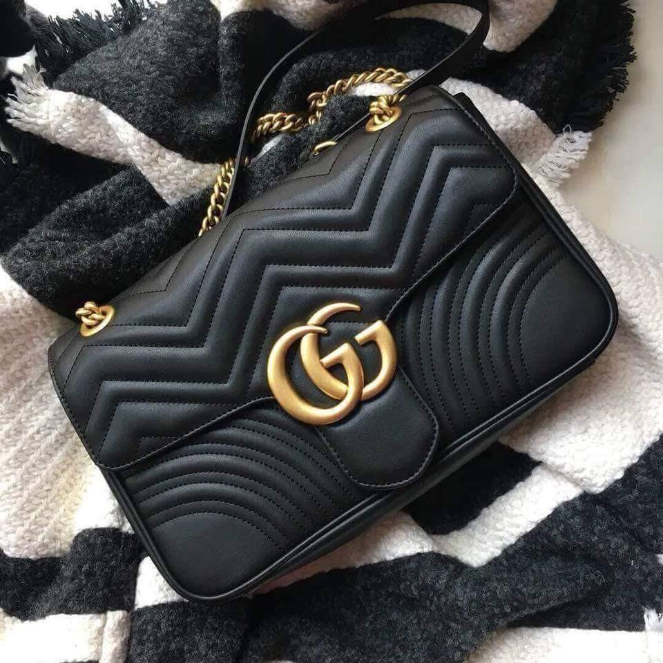 8f0bfe4cf GUCCI GG Marmont Medium Matelassé Leather Shoulder Bag, Luxury, Bags ...