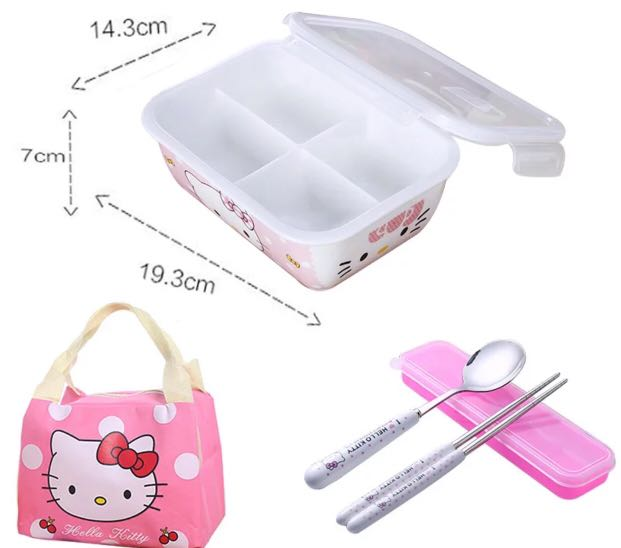 HELLO KITTY Lunch Box Set 8b6b4b994fef2