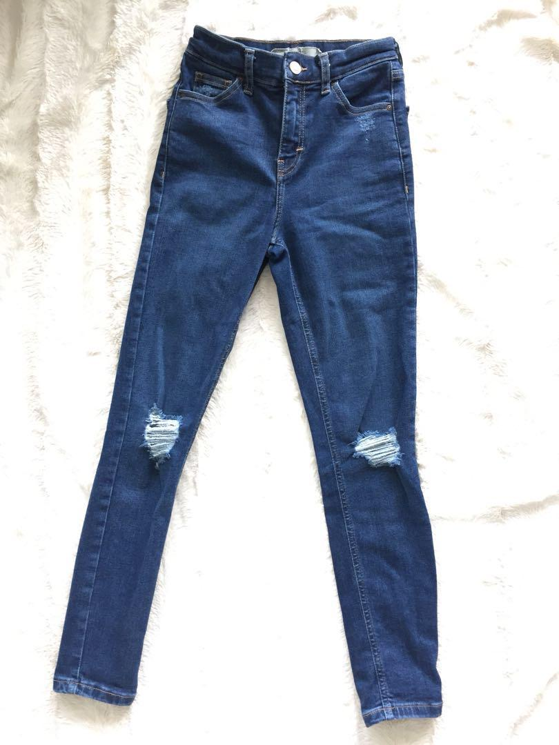 High-Waisted Topshop Jeans