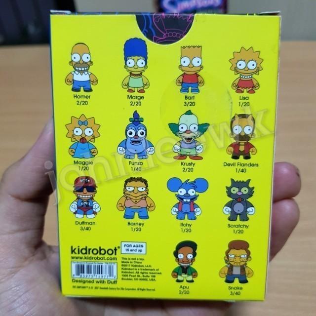 The Simpsons Enamel Pin Series KidRobot Bart Simpson 3//20 MINT Condition