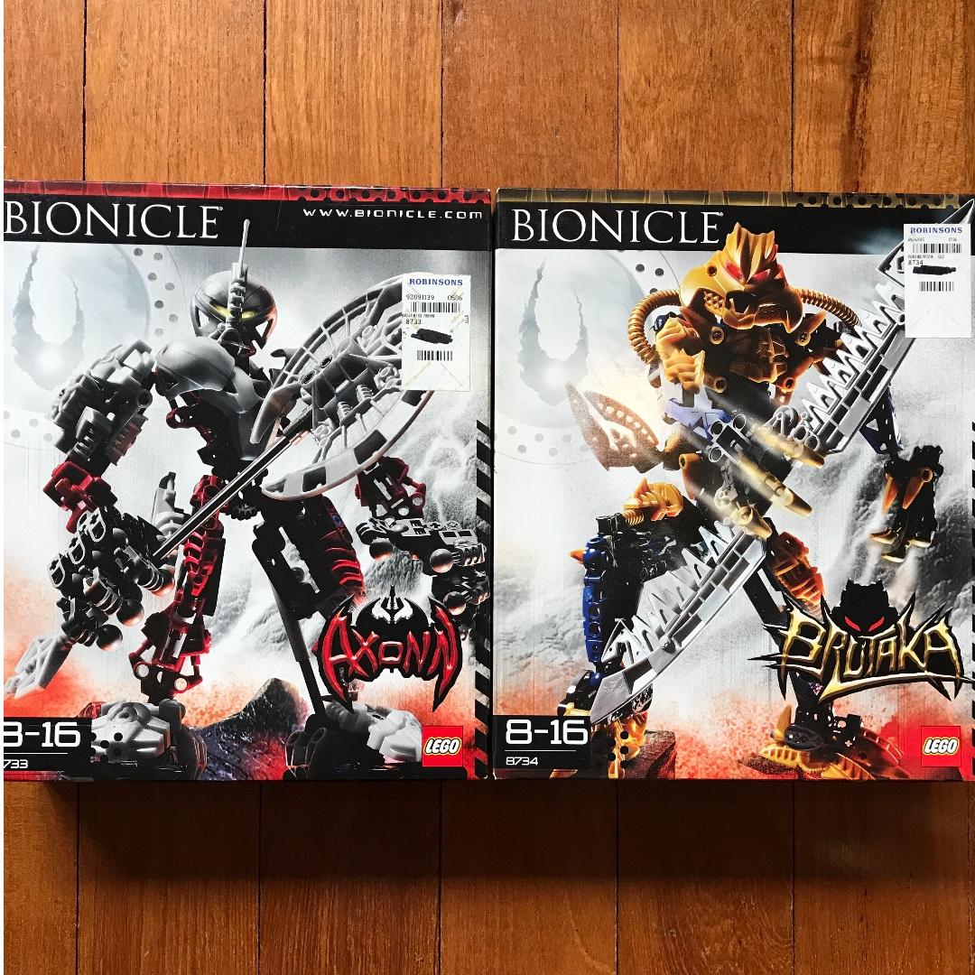 Lego Bionicle Axonn Brutaka Toys Games Bricks Figurines On