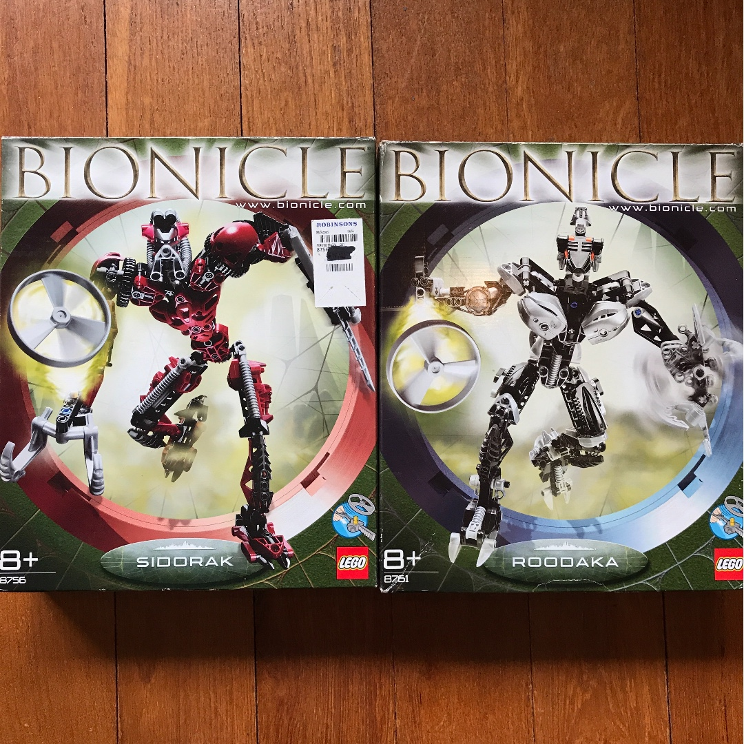 Lego Bionicle Metru Nui Sidorak And Roodaka Toys Games Bricks