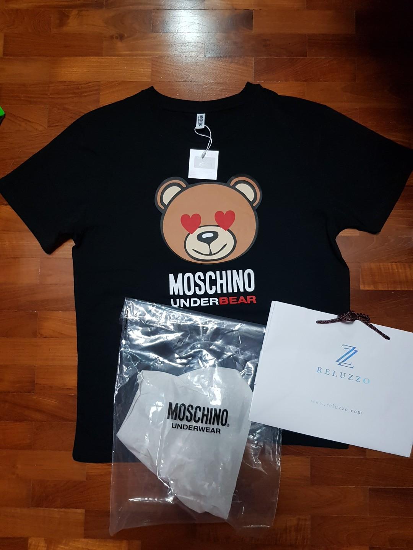 f545ae38b Love Moschino Bear Hearts Black Oversized Tee (not bape, prada ...