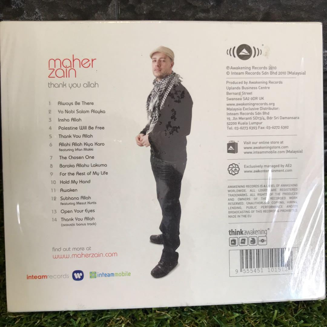 Maher Zain Thank You Allah CD, Music & Media, CDs, DVDs