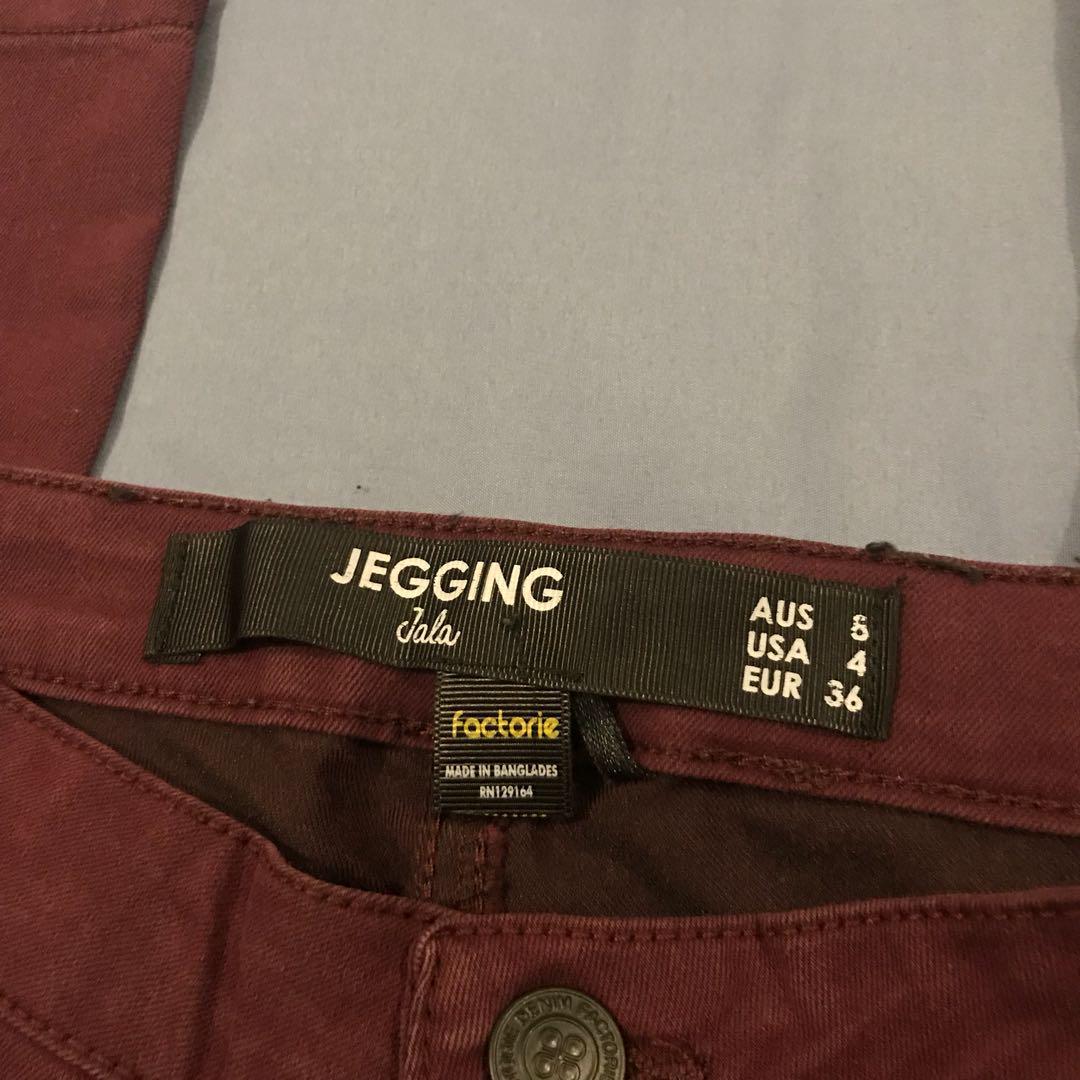 maroon jeggings