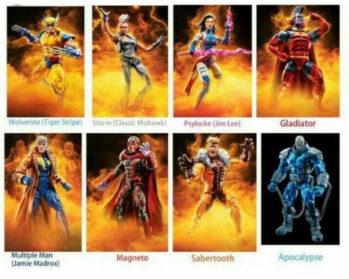 "Marvel Legends X-Men Wave 1 2018 APOCALYPSE BAF MULTIPLE MAN 6/"" Figure In STOCK"