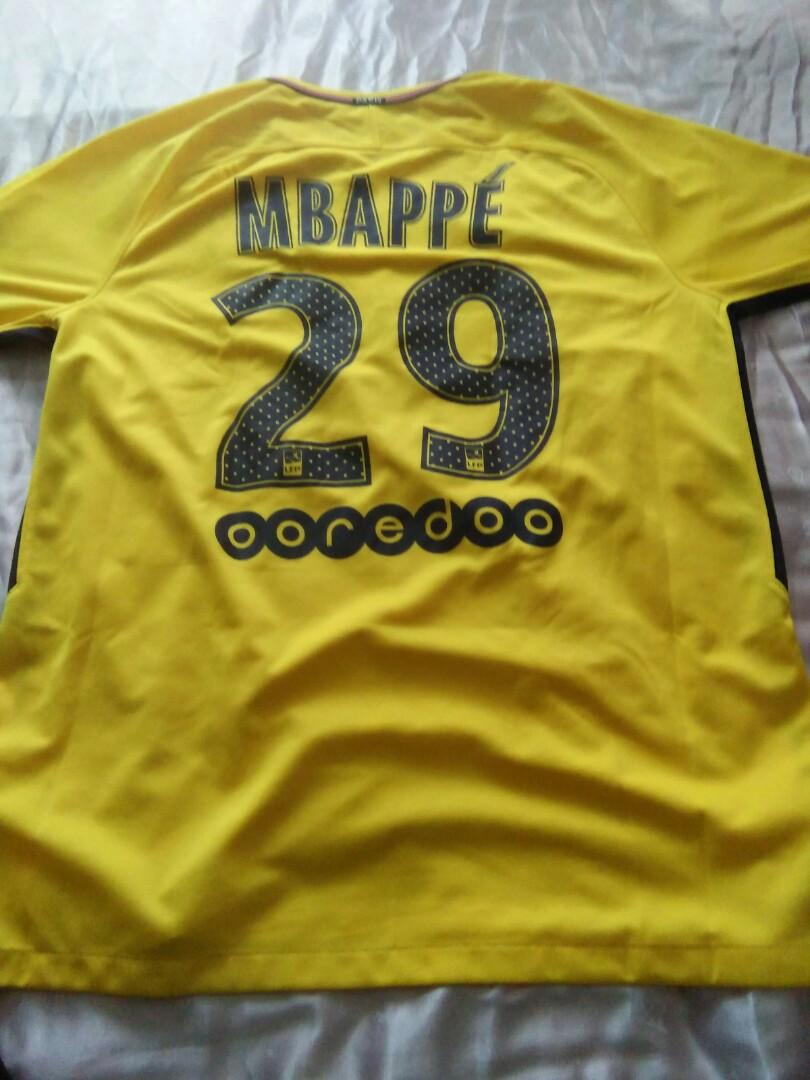 newest 366d5 06878 Mbappe PSG 29 shirt Nike authentic