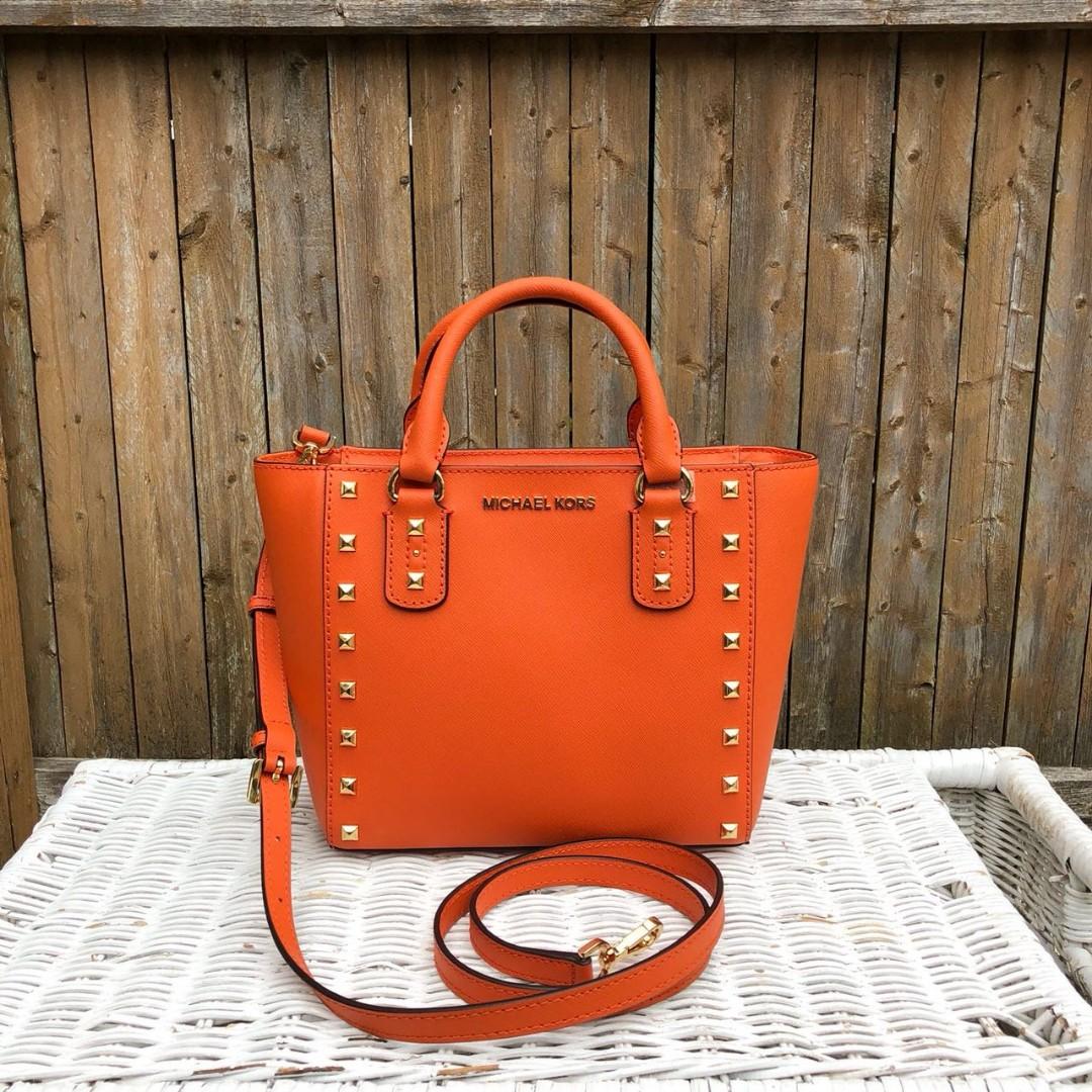 ea77063046589b Michael Kors sandrine stud small crossbody, Luxury, Bags & Wallets, Handbags  on Carousell