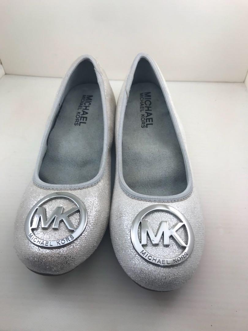 Michael Kors shiny silver shoes for