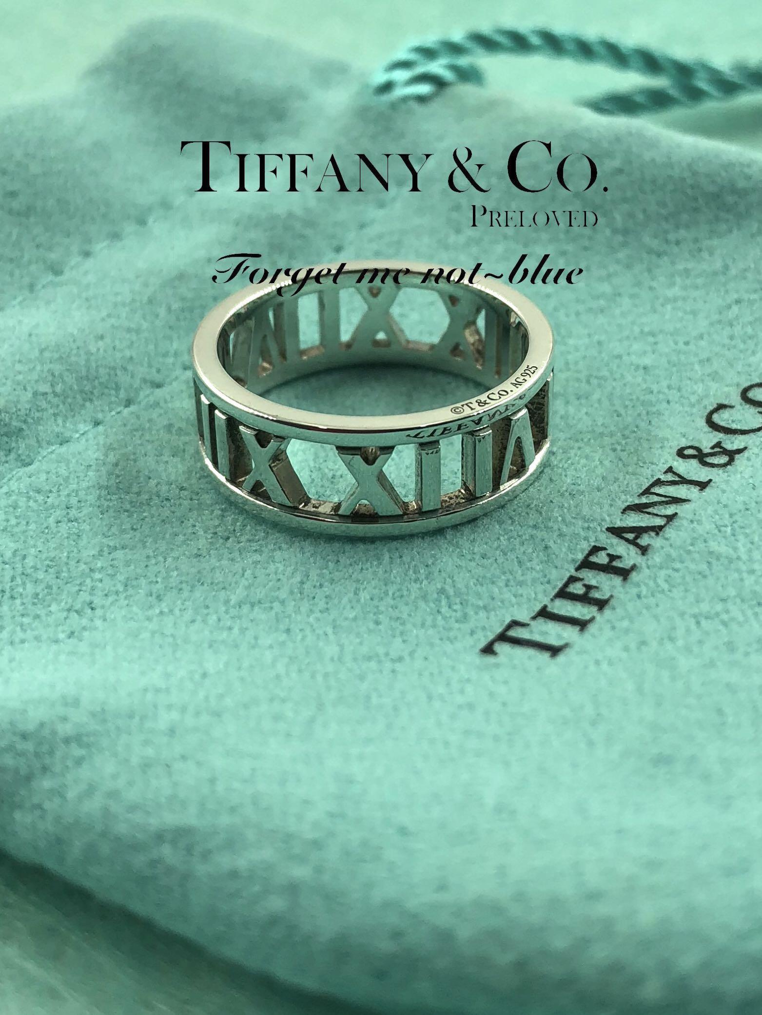 b4d7eada0 MINT! Authentic Tiffany & Co. Atlas Open Cutoff Sterling Silver Ring ...