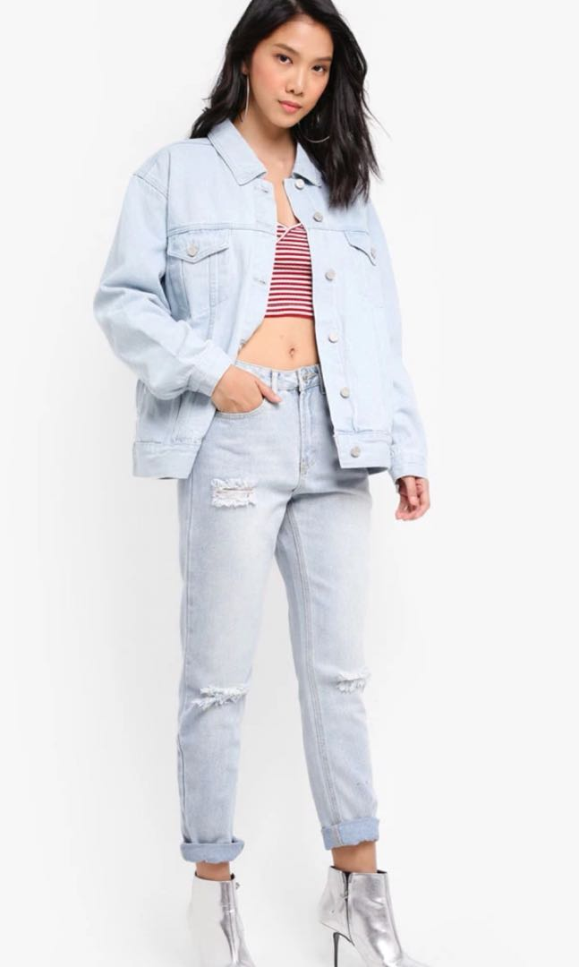 cb91c8b73786 Missguided Riot High Rise Button Jeans, Women's Fashion, Clothes ...