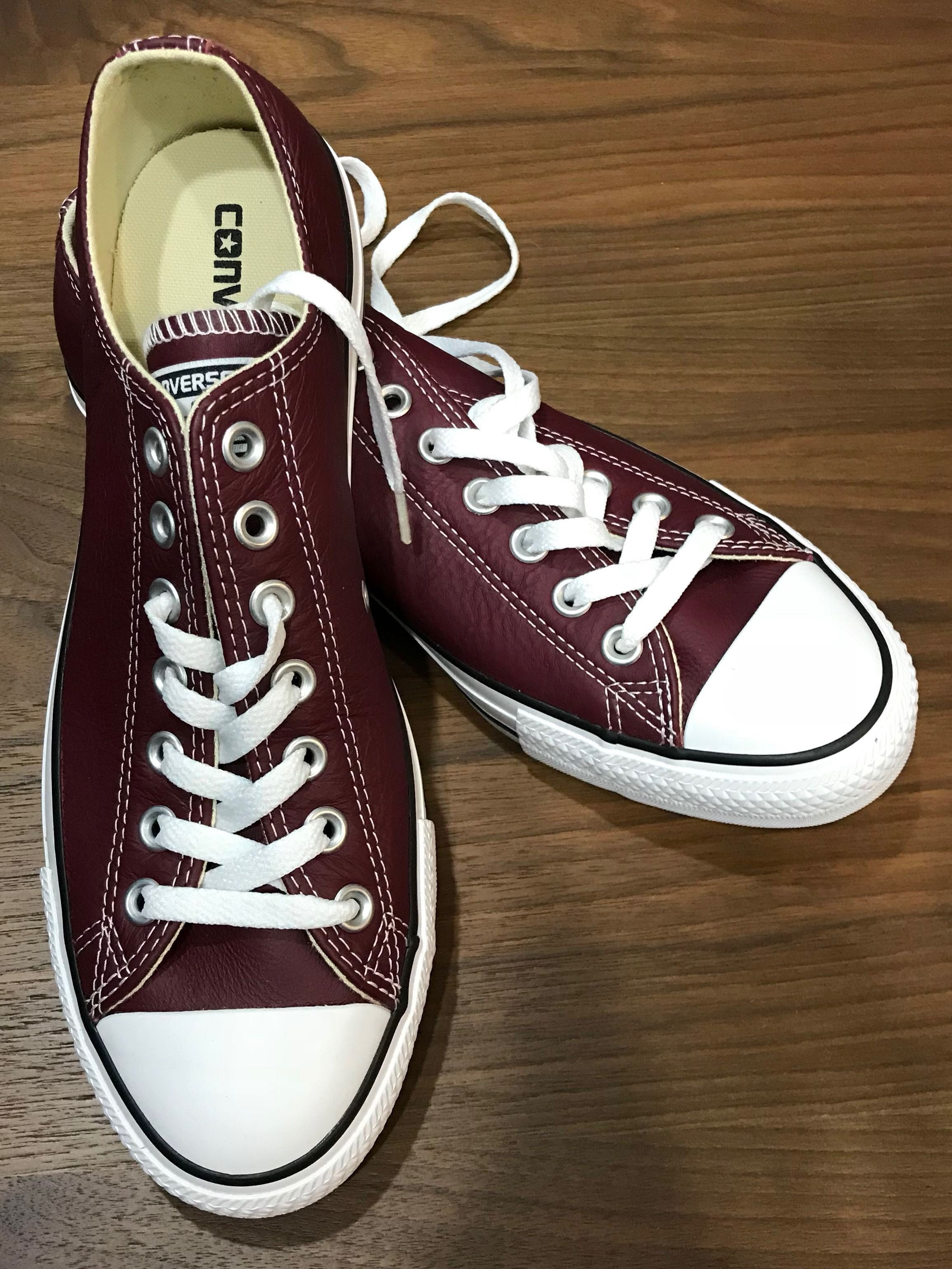 b66fb2b8cbda new  Converse All Star Low Oxheart Leather Trainers