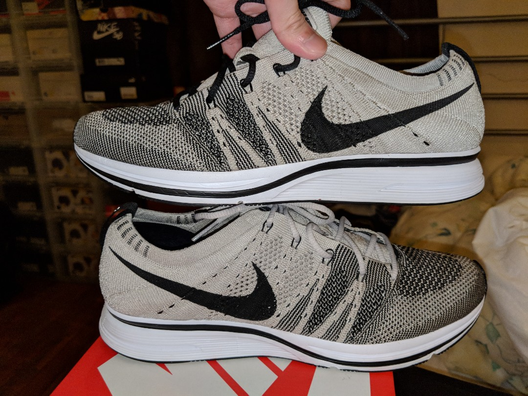 5e2ea4966492 Nike Air Flyknit Trainer Pale Gray US8