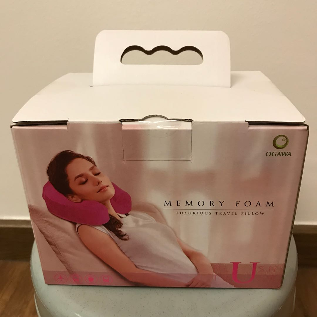 Ogawa memory foam travel pillow (New), Health & Beauty, Bath & Body ...