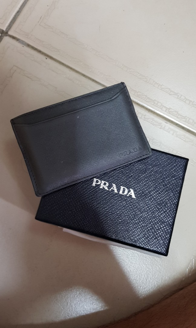 bd74c05b2590 Prada Card Holder, Luxury, Bags & Wallets, Wallets on Carousell