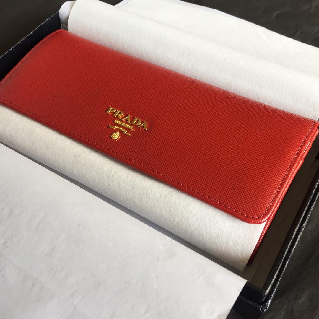 a19704d1e305 Prada Saffiano Continental Flap Wallet