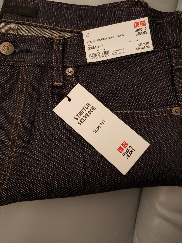 d301f2a1796703 Raw Denim Stretch Selvedge Slim Fit Jeans By Uniqlo Men S Fashion
