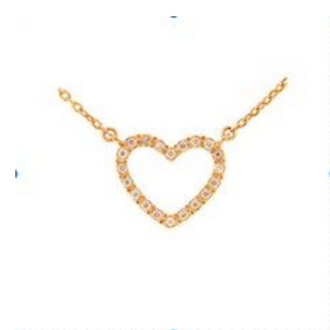 29e015b09 Pretty Trendy gift. Genuine Rosegold Heart Diamond Necklace with ...