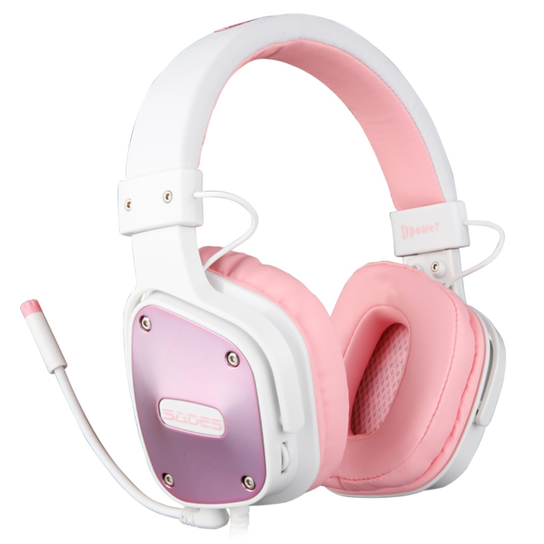 2eedb527c99 SADES Dpower(Pink) Gaming Headphone Headset with mic, Electronics ...