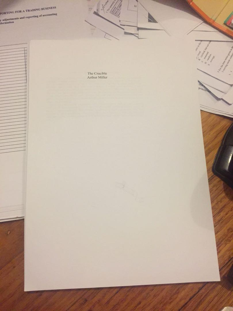 The Crucible book script