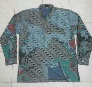 Kemeja Batik, size XL, baru sekali pakai