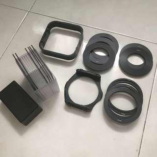 ND/Graduated ND filter set with lens adapters and filter holder