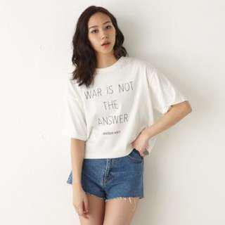 🚚 Moussy 短板字母棉踢 T-shirt 上衣