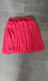 American Apparel Red Chiffon Skirt