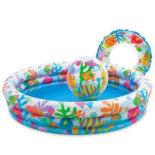 Intex 3 Ring Inflatable Pool with Ball and Ring Float