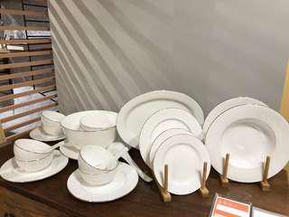 芝華仕 高級燙金 骨質瓷 餐具 套裝 26件