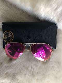 Ray Ban Pink mirror glasses