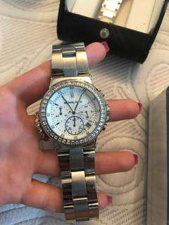 Michael Kors Diamond and Silver Watch