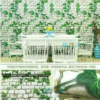 WALLPAPER STIKER DAUN 10MX45CM