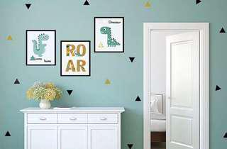 Triangles shape wall decals/stickers