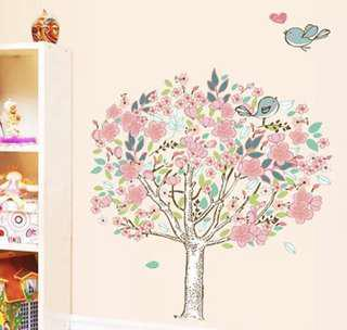 Pink Tree Wall Decals / Stickers