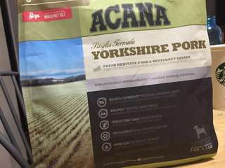 ACANA Yorkshire Pork 2kilos bag (three available) 830 is usual selling price!