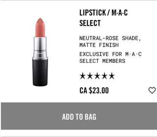 New mac lipstick